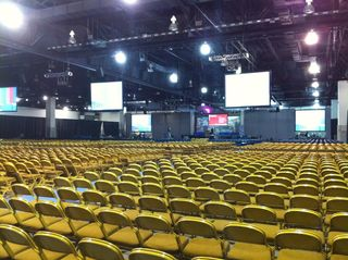 Main floor for the Legion Convention in Milwaukee. 10,000 members will attend