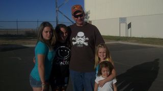 Brian with nieces in CO