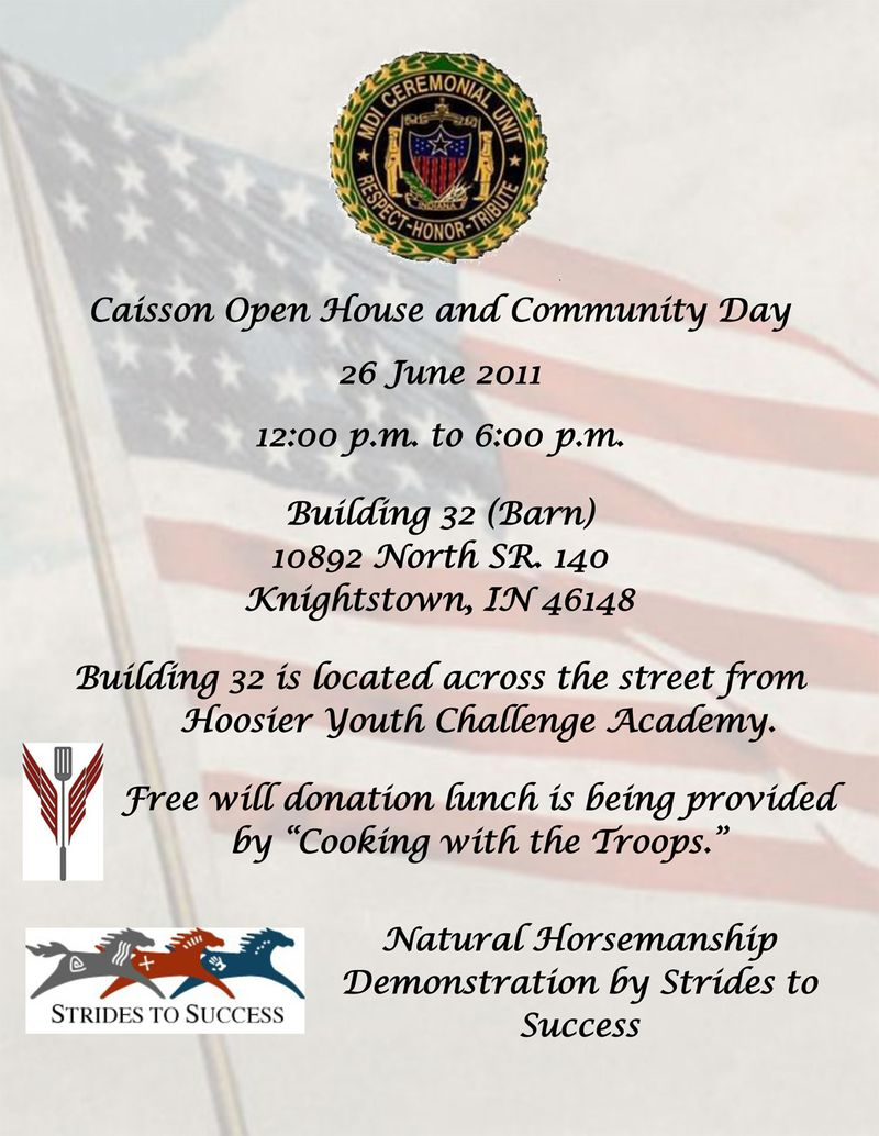 Caisson open house flyer