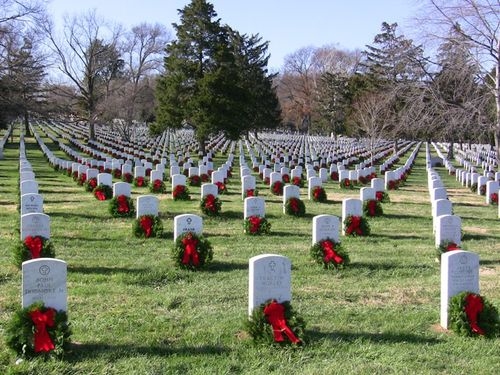 Wreaths at Arlington
