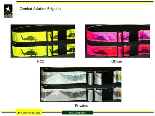 All Army PRT Reflective belt policy, version 3