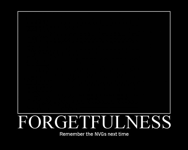 BLACKFIVE: Military Motivator - Forgetfulness